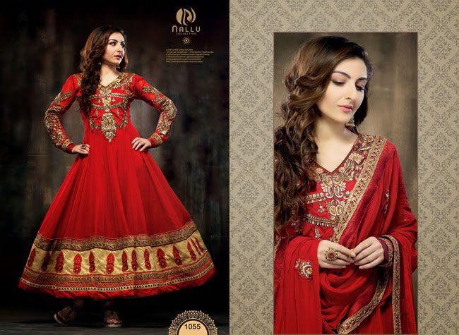 Soha Ali Khan - Red Anarkali Dress Collection