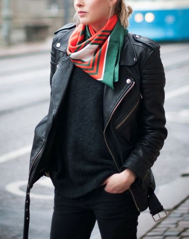 We've showed you how to tie one , how to braid one and how to belt one . But we've got a few more ideas up our sleeves about the best ways to wear your favorite silk scarf. Listen and learn, ladies.