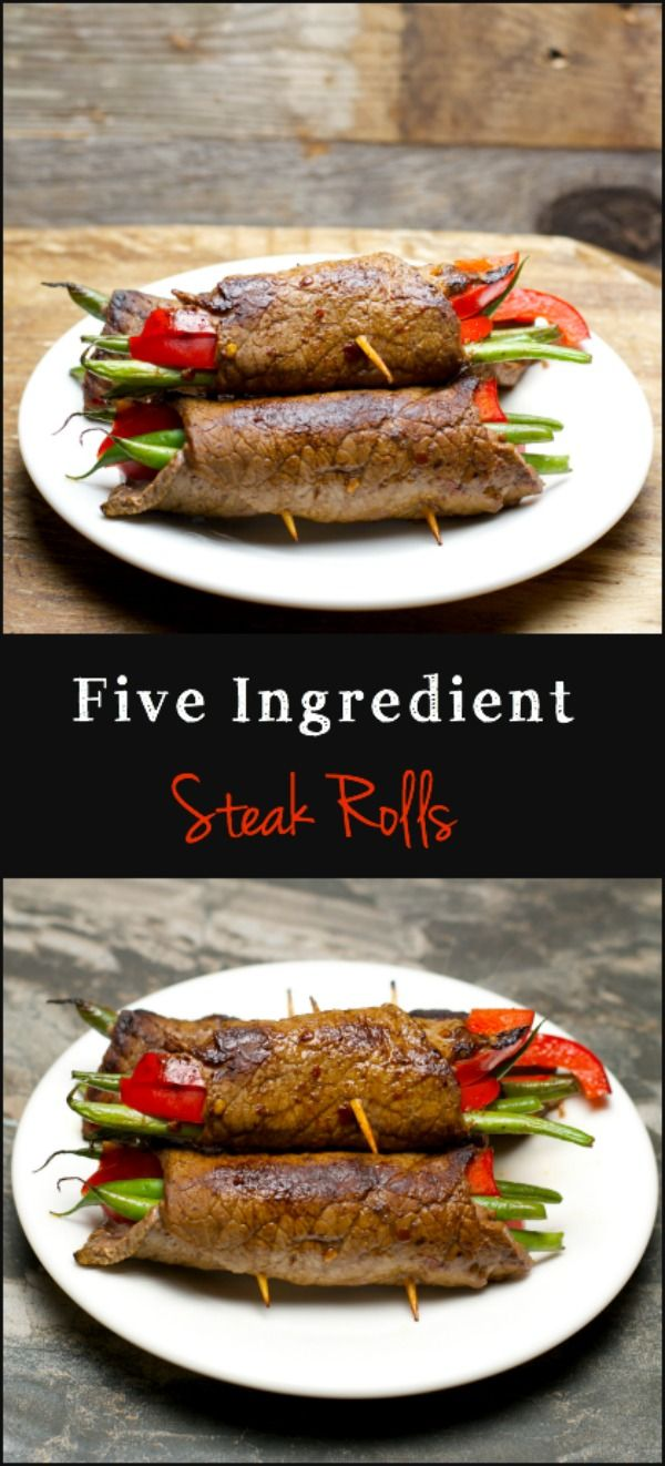 Steak Rolls, only five ingredients! Crazy easy and super impressive! www.maebells.com