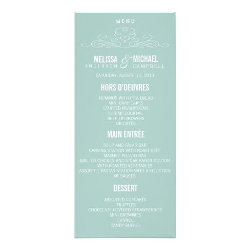 15 best DIY Wedding Menu Templates - Instant Download images on - rack card template