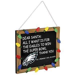 Philadelphia Eagles Holiday Chalkboard Sign