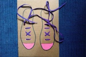My kids already know how to tie their shoes but thought this was a great idea for a little one that is still learning  shoe-tying-board