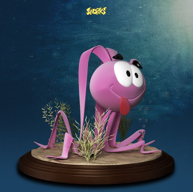 Occy The Octopus from Snorks Cartoon