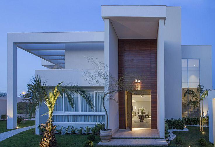 Construindo Minha Casa Clean: Fachadas de Casas Quadradas - Veja 40 Modelos dos Sonhos!