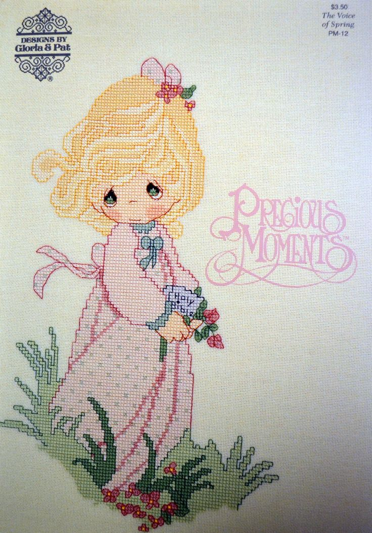 Precious Moments Cross Stitch Patterns By Gloria & Pat First Printing Voice of Spring by Patternhaus on Etsy
