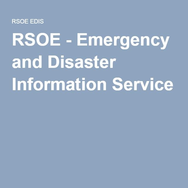 RSOE - Emergency and Disaster Information Service