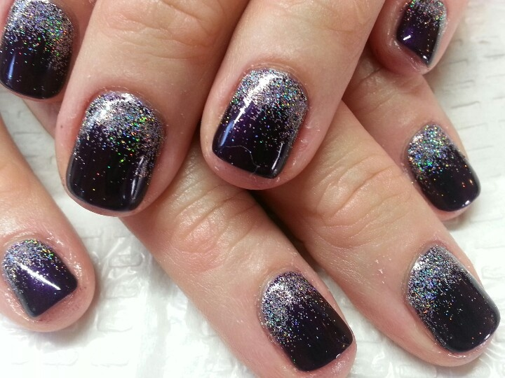 Gelish Glitter Nail Art Gel Polish Nail Art Idea S