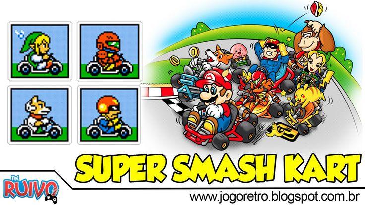 Super Smash Kart 2016 no Super Nintendo - HACK do Super Mario Kart