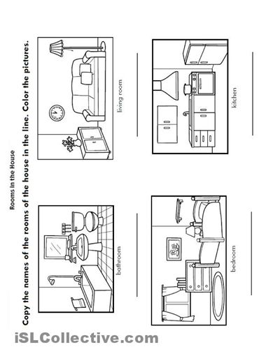 House Room Coloring Page: Free Rooms Of The House Coloring Pages