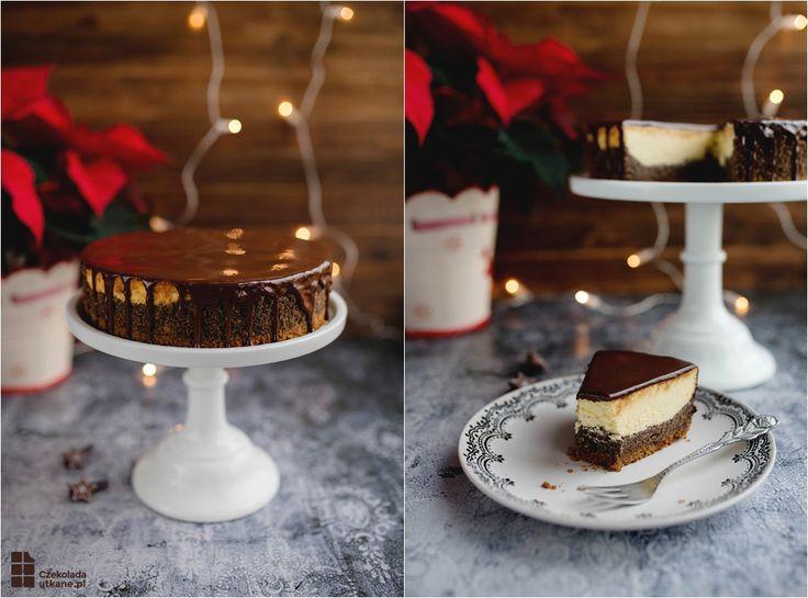 Przepis na idealny sernik z makiem (seromakowiec) na pierniczkowym spodzie. Wspaniałe ciasto na święta Bożego Narodzenia - połączenie makowca i sernika.