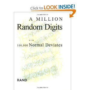 book a million random digits