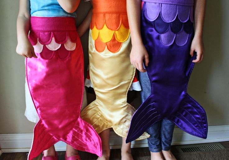 Kids Dress Up Fairy Tale Mermaid Costume Tail Pink Magenta Fuschia Size SMALL. $35.00, via Etsy.