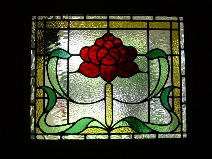 Stylised Stained Glass waratah