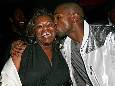 "Rapper Kanye West may have an infamous ego, but he chills out when it comes to his professor mother, for whom he penned the tribute ""Hey Mama."""