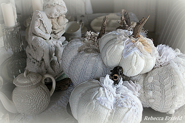 Old sweater pumpkins
