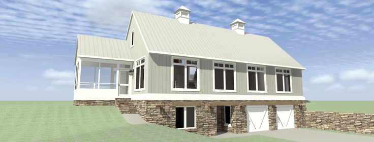 This plan is designed with poured concrete basement walls and a concrete slab on grade. The exterior walls are 2×6 wood framing with r19 spray foam insulation. First and second floor systems are pre-engineered wood trusses. The roof is standing seam metal, a plywood deck, and pre-engineered wood trusses at 12:12 and 6:12. The exterior …