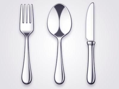 Metal Utensils - graphic design