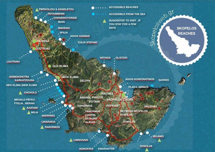 skopelos beaches map