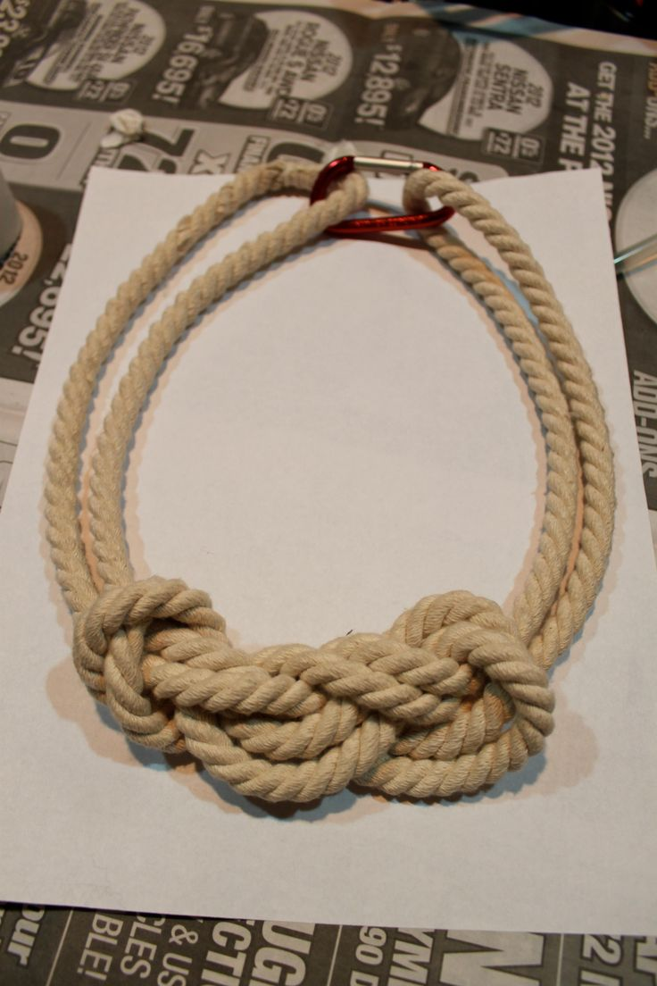 DIY Jewelry DIY Nautical Rope Necklace