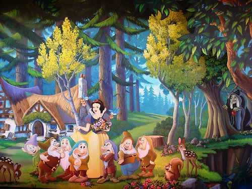 Charming Snow White Wall Mural Part 6