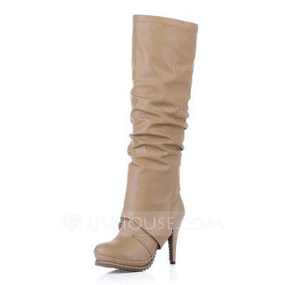 Laarzen - $40.48 - Kunstleer Stiletto Heel Enkel Laarzen Knie Lengte Laarzen met Dier Afdrukken Vastrijgen schoenen (088034488) http://jjshouse.com/nl/Kunstleer-Stiletto-Heel-Enkel-Laarzen-Knie-Lengte-Laarzen-Met-Dier-Afdrukken-Vastrijgen-Schoenen-088034488-g34488