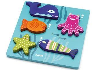 mooie reliëfpuzzel met zeedieren, zonde om weg te doen!