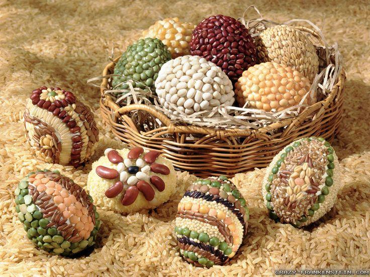 Originální kraslice: Ozdobte velikonoční vajíčko rýží nebo luštěninou