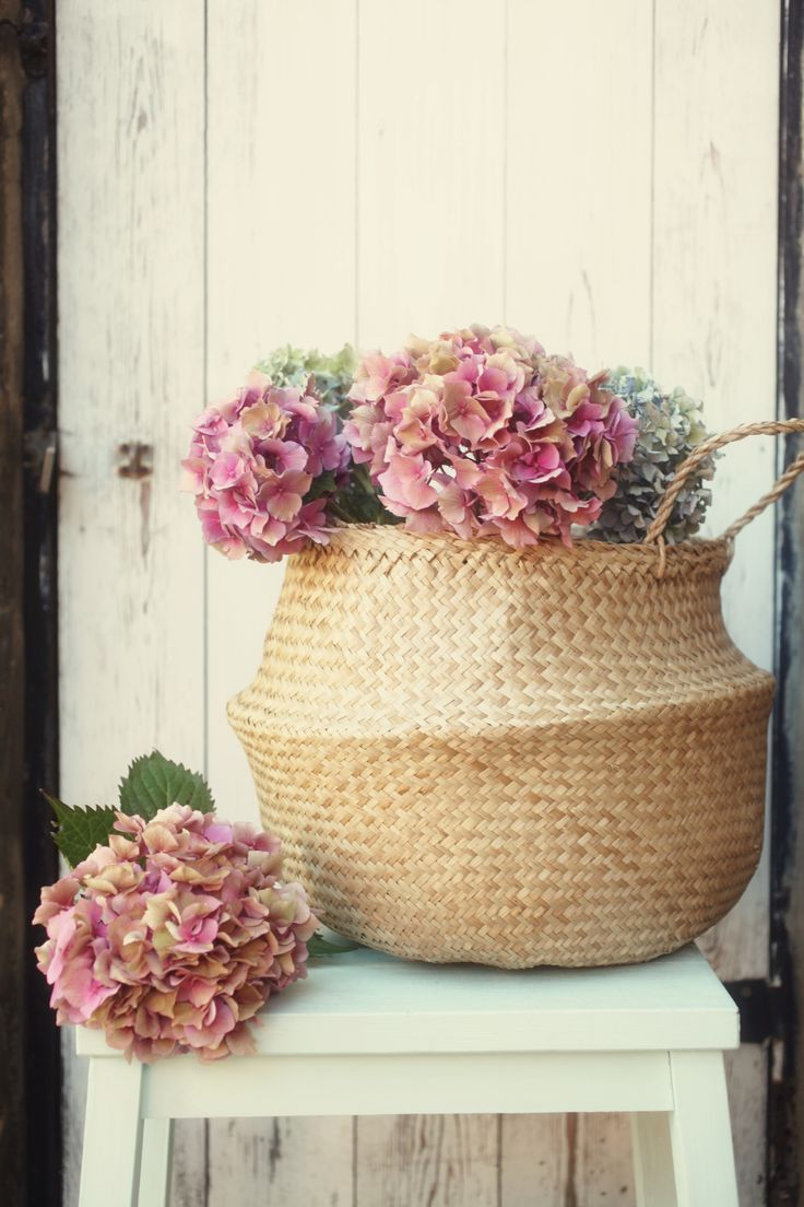 .#Basket #wicker Basket #Flower basket