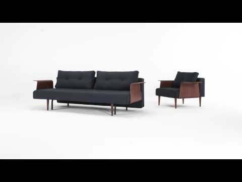 Recast Plus sofa bed with chair & footstool