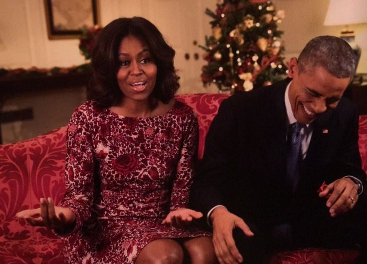 MICHELLE So I said to him, I hope your friend Donald has a nice couch for you to sleep on.   BARACK [laughing to keep from crying]
