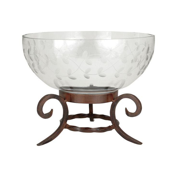 Pomeroy POM-619229 Luminati Collection Montana Rustic,Clear Finish Bowl