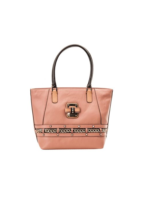 Guess Ellese Small Classic Tote, pink gloss 111,00 € www.fashionstore.fi