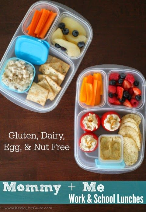 Lunch Made Easy: Work & School Gluten, Dairy, Egg, & Nut FREE Mommy + Me Lunches // Non-Sandwich Lunch Ideas