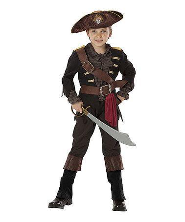 Black & Brown Pirate Captain Dress-Up Set - Toddler & Boys by Adventure Factory #zulily #zulilyfinds