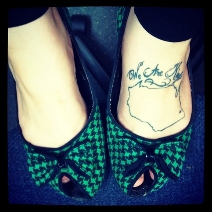 Teal bow #wisconsin #tattoo