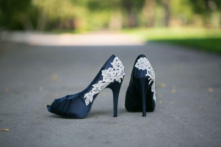 Navy Blue Wedding Heels, Blue Bridal Shoes