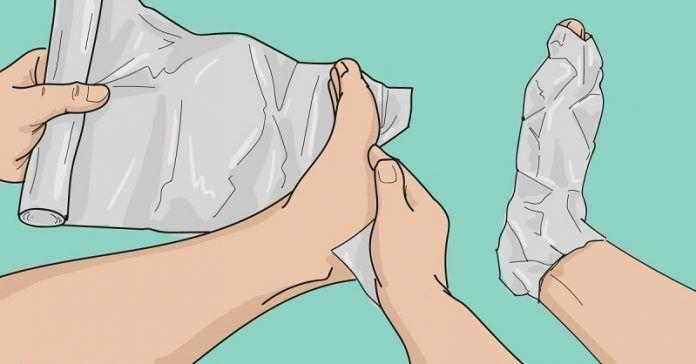 Оберни ноги фольгой в несколько слоев. То, что случится через 1 час, удивит…