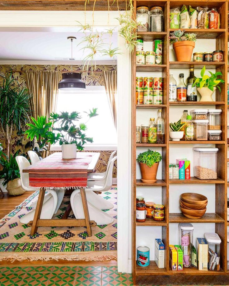 Best 25 bookshelf pantry ideas on pinterest old screen - Boho chic living room decorating ideas ...