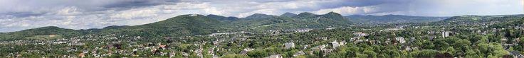 Panorama Siebengebirge vom Godesburg Mai 2014 - Siebengebirge – Wikipedia