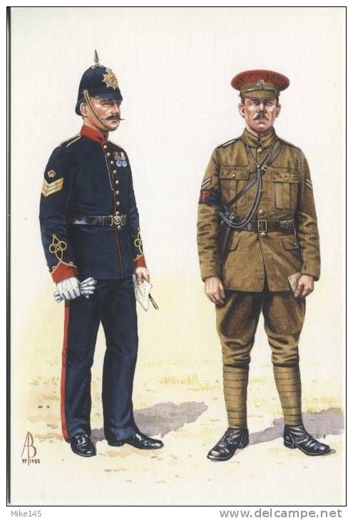 British; Military Foot Police, Staff Sergeant c.1904 & Corporal c.1914 by Alix Baker