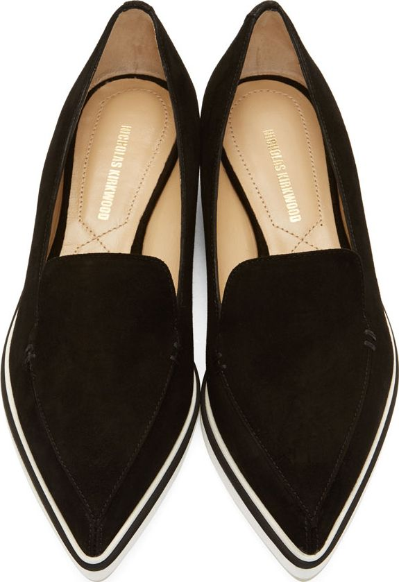pointy-toe flats--Nicholas Kirkwood