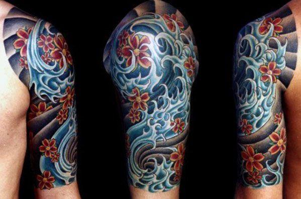 Afbeeldingsresultaat voor japanese half sleeve tattoos