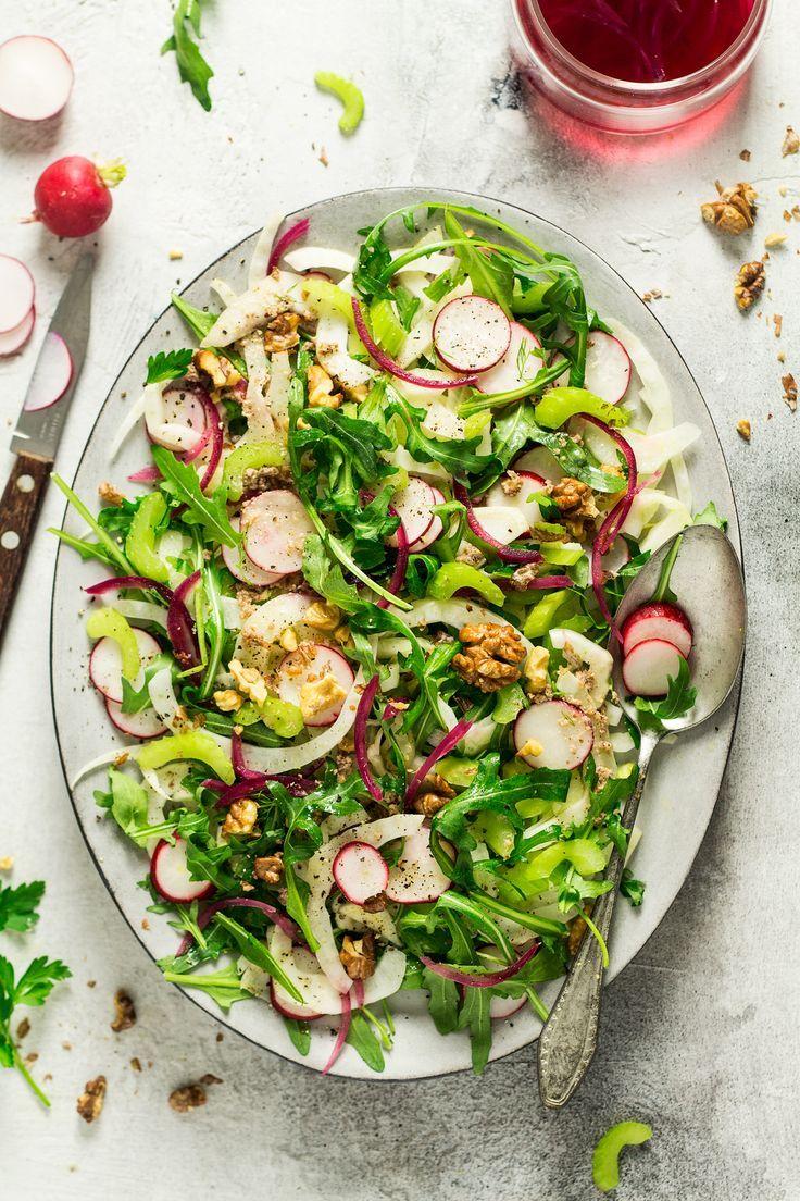 Vegan Fennel Salad With Walnut Dressing