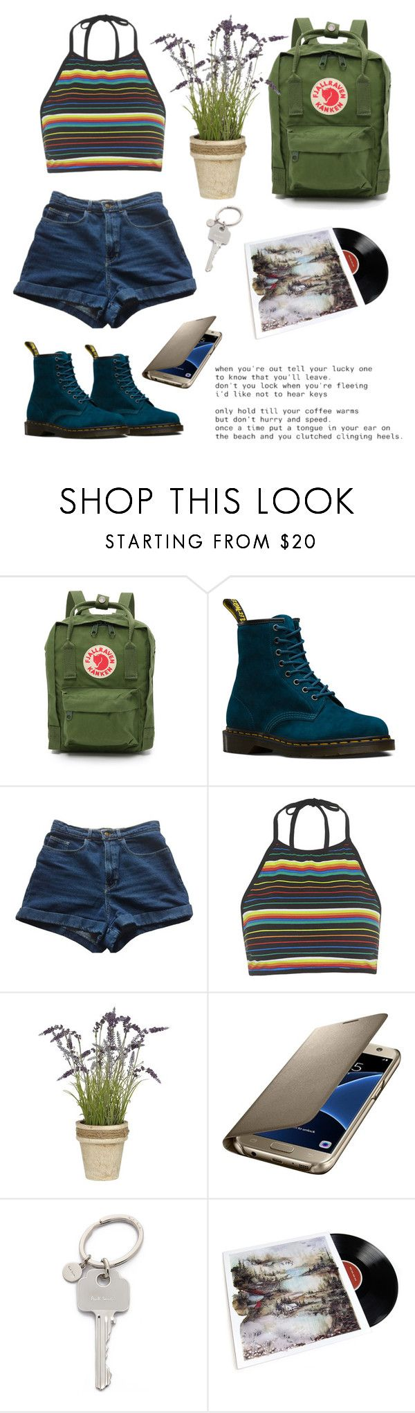 """I'm Sorry I Ever Loved You"" by owlenstar on Polyvore featuring Fjällräven, Dr. Martens, American Apparel, Motel, Samsung and Paul Smith"