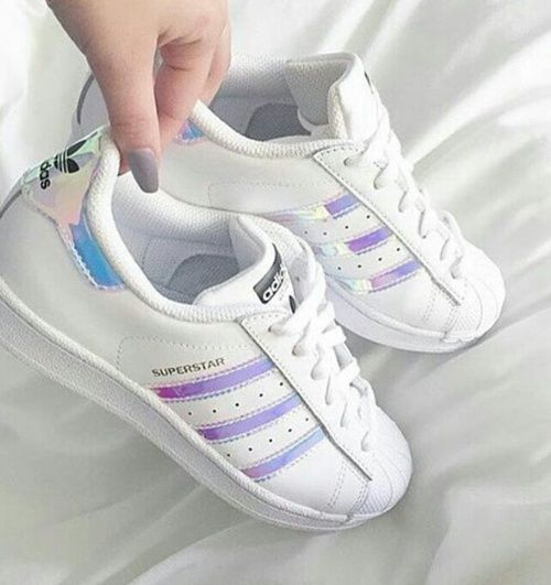 adidas, shoes, and white Bild