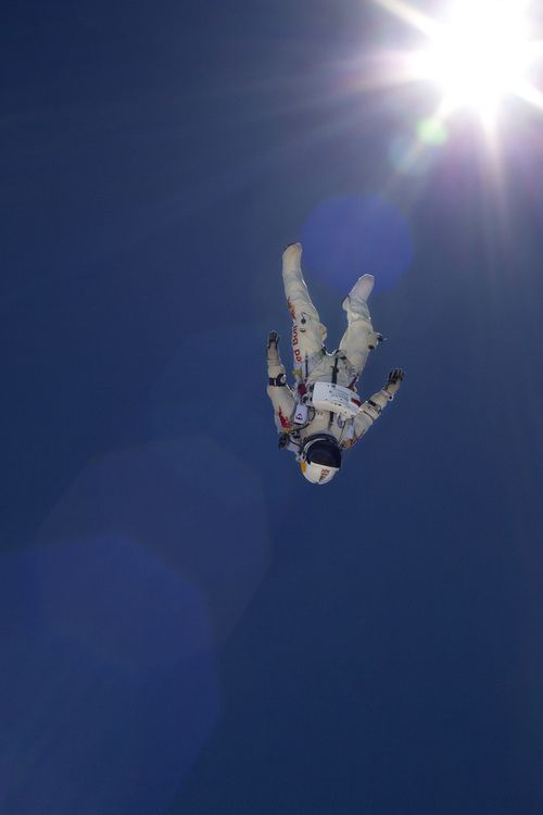 Felix Baumgartner's heart pounding jump from 100,2800 feet.