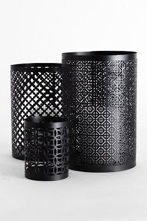Ellos Home Ljuslyktor Marocco 3-pack Svart - Ljusstakar & lyktor | Ellos Mobile
