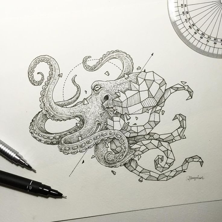 Geometric beasts octopus