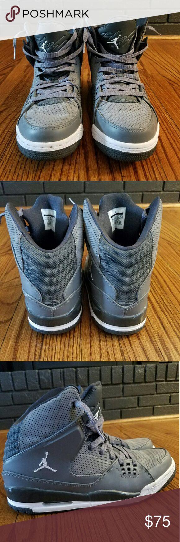 Mens Flight Jordans Sneakers Grey Flight Jordans. Size 10.5. In excellent condition! Grey/Grey. Jordan Shoes Sneakers