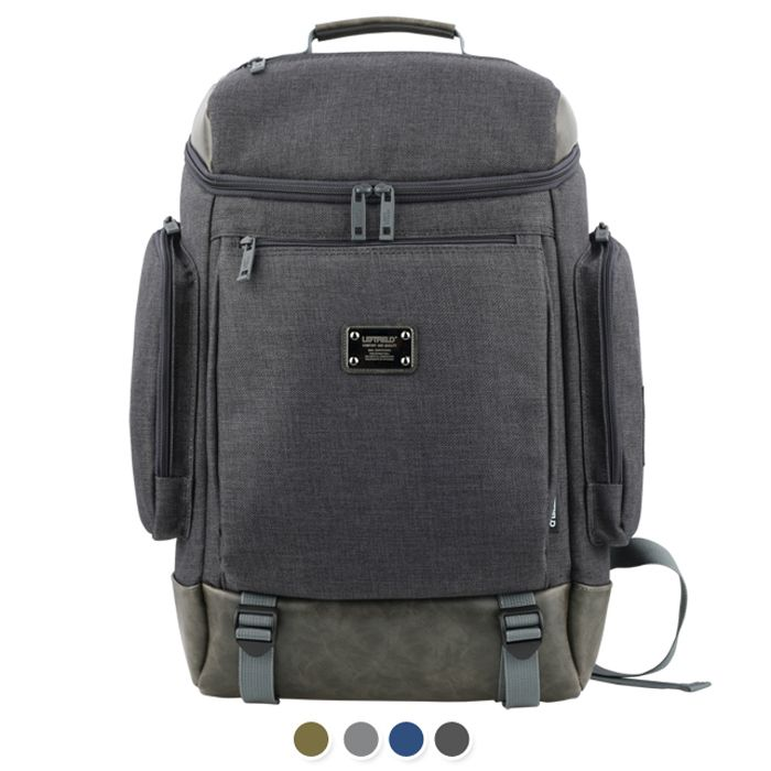 Made in Korea Notebook Backpack - Pocket for iPad and Laptop Compartment, Mesh cushion padded shoulder strap, Above and Front zip pocket /Side 2 zip pockets